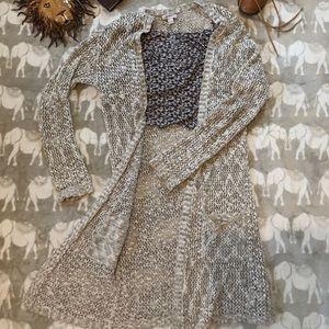 Beautiful long crochet sweater